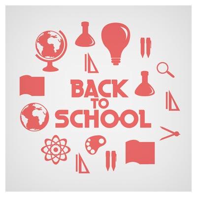 مجموعه المان های علمی و تحصیلی (Back To School Icon Set)