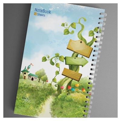 فایل طراحی شده آماده جلد دفترچه مشق با فرمت PSD