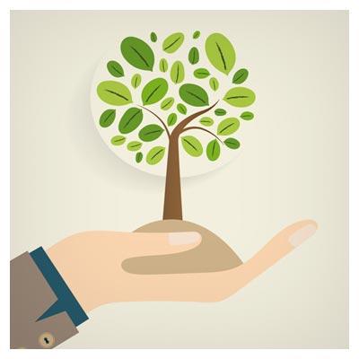 وکتور رایگان با موضوع محیط زیست و محافظت از درختان (Eco Friendly Love Nature Vector Template)