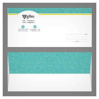 طرح لایه باز پاکت نامه (پاکت ملخی) PSD با طرح های Floral