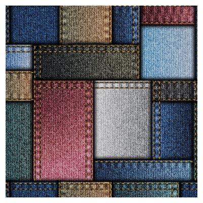 فایل رایگان مجموعه پترن پارچه ای با طرح کتان و لی (Denim Fabric Seamless Vector Pattern)