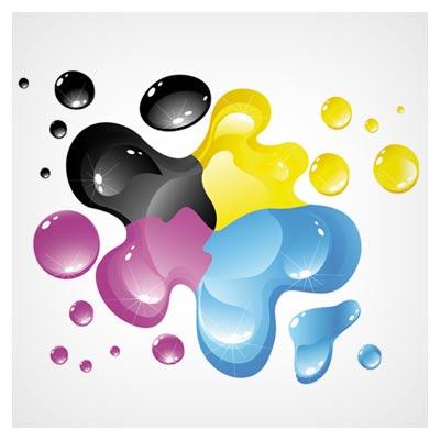 وکتور رنگهای CMYK (رنگ های استاندارد چاپ)(Vector cmyk color background free vector download)