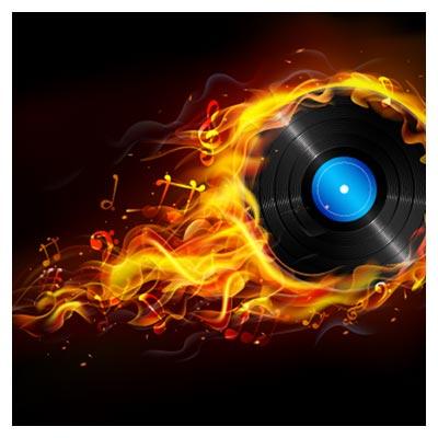طرح وکتوری دیسکت آتشین (موسیقی داغ)