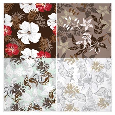 وکتور مجموعه پترن گل های زیبای لوکس بصورت لایه باز (free flower vintage vector seamless pattern set)