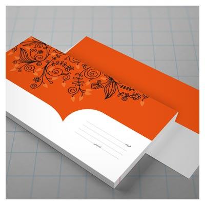 دانلود پاکت ملخی گلدار (طرح فانتزی) بصورت فرم باز PSD