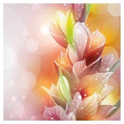 وکتور بکگراند گل های لیلیوم لایه باز (Spring Lily Flower Vector)