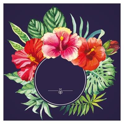 وکتور بنر و فریم هنری با گل های زیبا (Garden Flower frame design art vector)