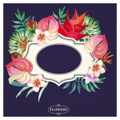 فایل لایه باز وکتوری بنر با گل های زیبا (Garden Flower Frame Design art vector)