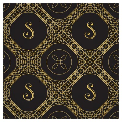 پس زمینه وکتور لوکس با زمینه سیاه (Gold line art Seamless Pattern Luxury Vector)