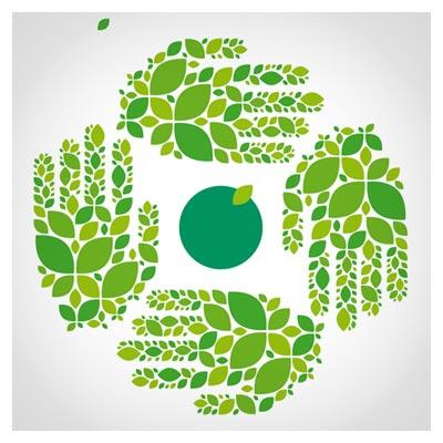 وکتور پس زمینه با موضوع اکولوژی و محیط زیست (Green Ecology Template Background Vector)