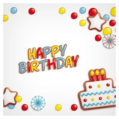طرح رایگان وکتوری مناسب برای تولد (Happy Birthday design elements free vector)