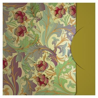 طرح بکگراند و بنر وکتور با طرح گلهای فلورال (Ornate Floral vector background)