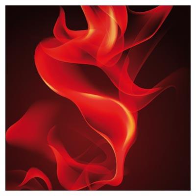وکتور پس زمینه شعله های آتش در بکگراند مشکی (Free Vector Realistic Flame)
