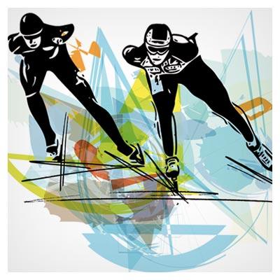 فایل وکتور و کلیپ آرت اسکیت بازی (Speed skating graffiti vector)