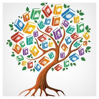 دانلود رایگان وکتور درخت کتاب (علم و رشد)(Tree With Book Creative Vector)