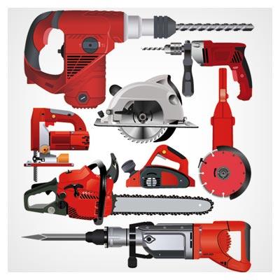 فایل رایگان و لایه باز ابزارهای برشکاری و سوراخ کاری (Hand & Portable Power Tools)