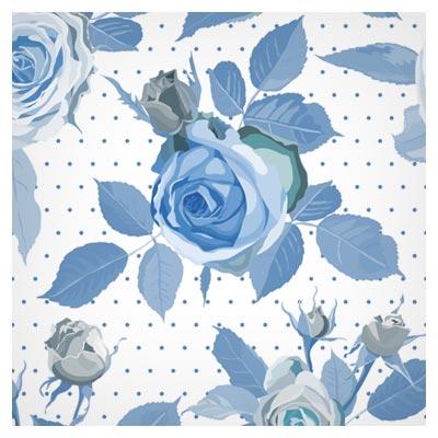 پترن و بکگراند لایه باز گل های رز آبی بصورت لایه باز (Vintage Blue Roses Pattern Seamless Vector)