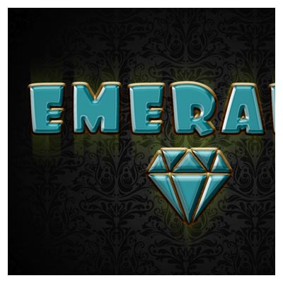 استایل رایگان فتوشاپ با طرح زمرد (افکت متن)(Emerald Photoshop Style)
