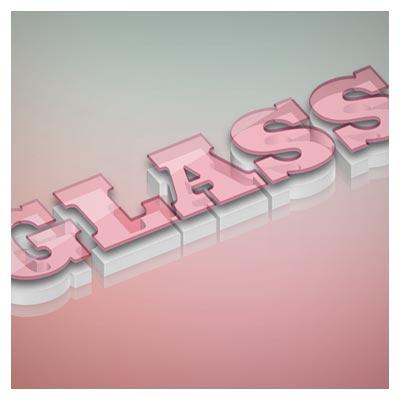 استایل تبدیل متن به حالت شیشه ای (افکت متن)(glass text effect)