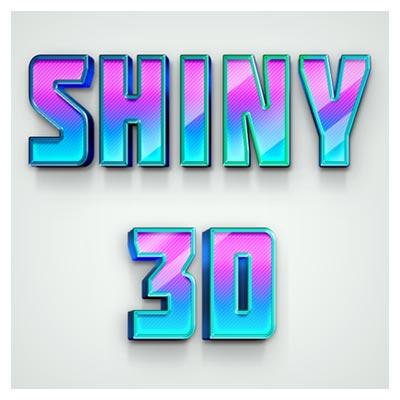 استایل متن سه بعدی درخشان (Shiny 3D Effect)
