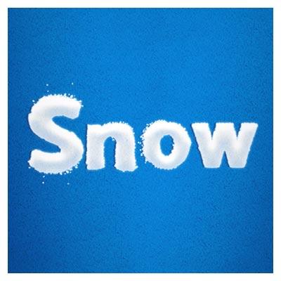 استایل رایگان نوشته برفی در فتوشاپ (snow text style)
