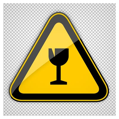 تصویر دوربری شده تابلوی هشدار دهنده زرد (رستوران و غذاخوری)