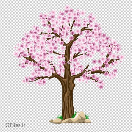 فایل با کیفیت دوربری شده (PNG) درخت بهاری (درخت با شکوفه های بهاری)