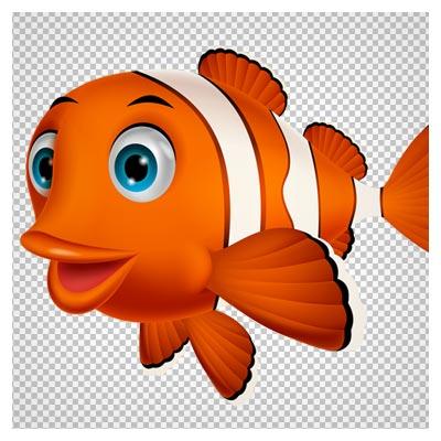 تصویر کارتونی کاراکتر نیمو (ماهی کوچولوی قرمز)