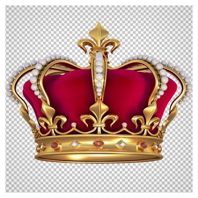 تصویر با کیفیت دوربری شده تاج پادشاهی (تاج طلا)(Crown transparent background)