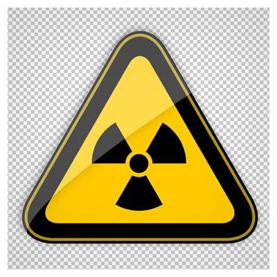 کلیپ آرت تابلوی هشدار دهنده انرژی هسته و تشعشع هسته ای