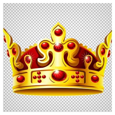 دانلود تصویر png و دوربری شده تاج طلایی (Golden crown Clipart)