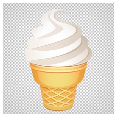 دانلود کلیپ آرت و فایل png بستنی قیفی کارتونی (Ice Cream Cone PNG Clip Art Image)