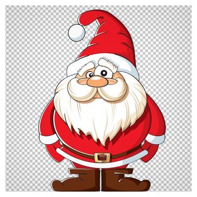 دانلود تصویر کارتونی بابانوئل با فرمت png و بدون بکگراند (Santa Claus Clipart Png)