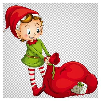 کاراکتر کارتونی و هدایای بابانوئل با فرمت png و کیفیت بالا (وروجک کارتونی)