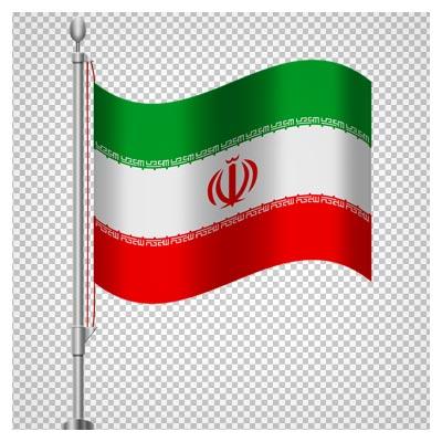 دانلود تصویر png و دوربری شده پرچم رومیزی ایران با کیفیت بالا