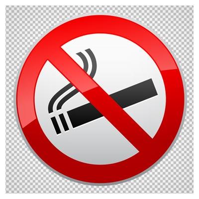 علامت و تابلوی هشداری سیگار کشیدن ممنوع (استعمال دخانیات ممنوع) با فرمت png