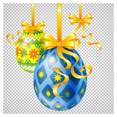 فایل دوربری شده تخم مرغ های رنگی آویزی با فرمت png