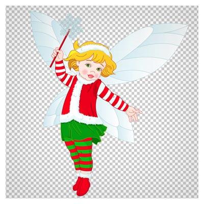 دانلود فایل png و کلیپ آرت کارتونی فرشته کوچولو
