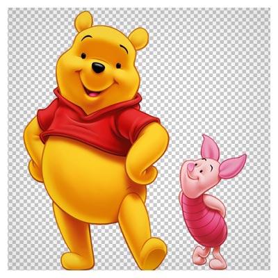 کاراکتر کارتونی pooh (خرس قهوه ای) با کیفیت بالا و فرمت png