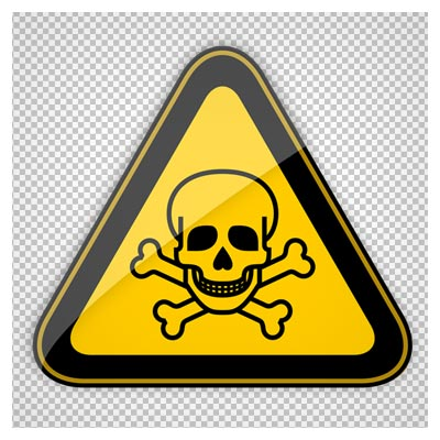کلیپ آرت کارتونی تابلوی هشدار دهنده خطر مرگ (فرمت png)