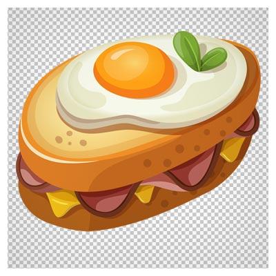 فایل دوربری شده ساندویچ تخم مرغ با کیفیت بالا و فرمت png