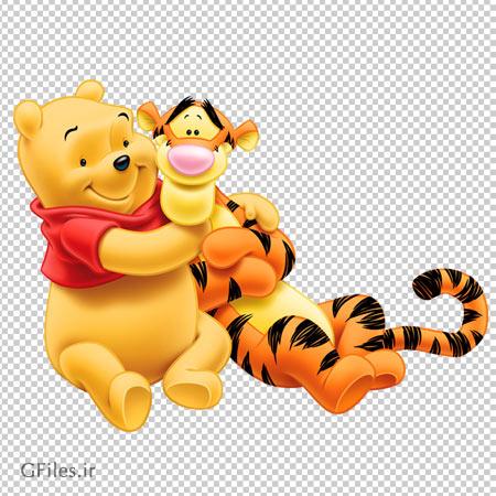دانلود شخصیت کارتونی پوه (pooh) و ببر (Tiger) با کیفیت بالا
