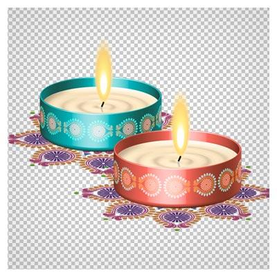 دانلود فایل دوربری شده شمع های روشن (Candle Png Clipart)
