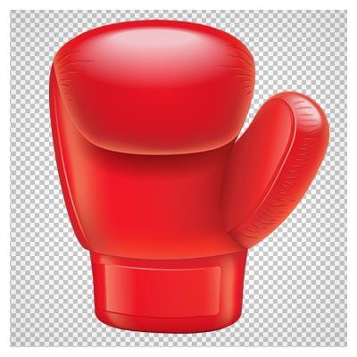تصویر دوربری شده دستکش بوکس قرمز با فرمت png
