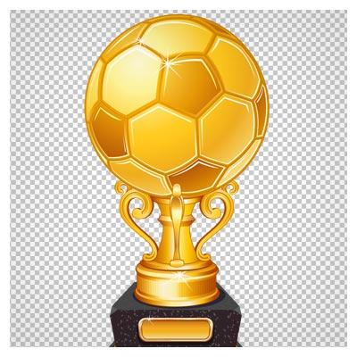 دانلود تصویر دوربری شده کاپ و جام طلای فوتبال (توپ طلایی) با پسوند png