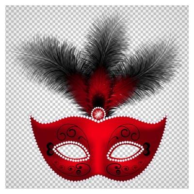 تصویر دوربری شده ماسک قرمز با کیفیت بالا و فرمت png