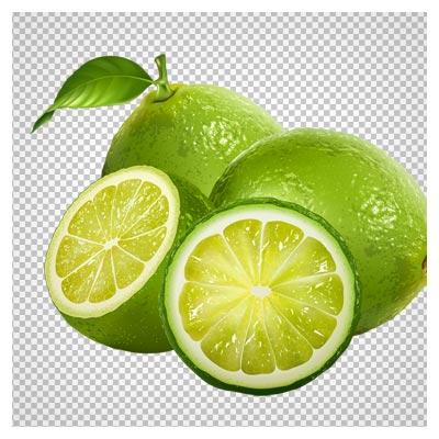 تصویر دوربری شده لیمو ترش سبز با کیفیت بالا و فرمت png