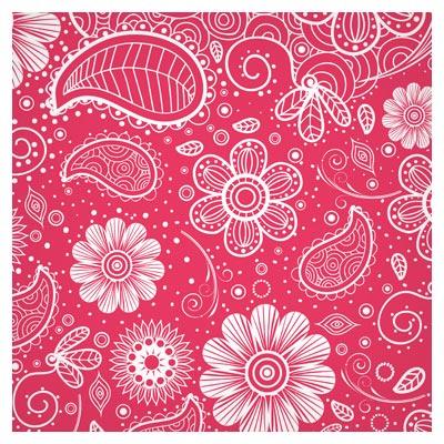 دانلود طرح لایه باز پترن وکتور با گل های فلورال خطی (floral Pattern Vector)
