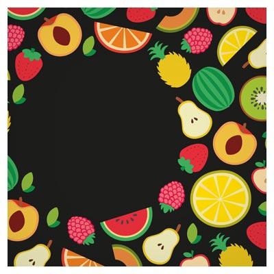دانلود بنر رایگان مجموعه میوه های متنوع با سبک طراحی فلت (Flat Banner Fruits)