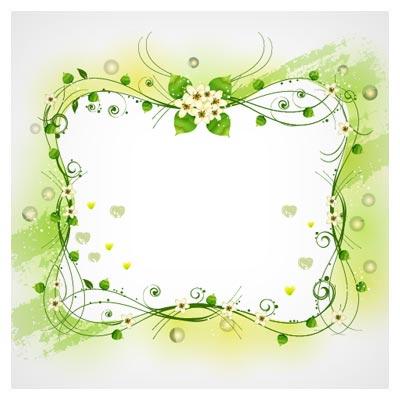 وکتور رایگان مجموعه 4 بنر و فریم گلدار (لایه باز با فرمت eps)(Beautiful Floral Frame Vector Set)